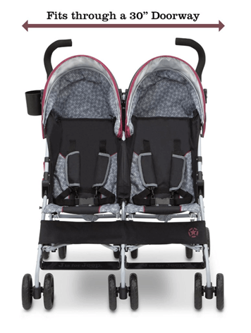 J is for Jeep Brand Scout Double Stroller Review - easy fit through a 30 doorway