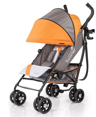Summer Infant 3D One Convenience Stroller Review - big storage under baby seat