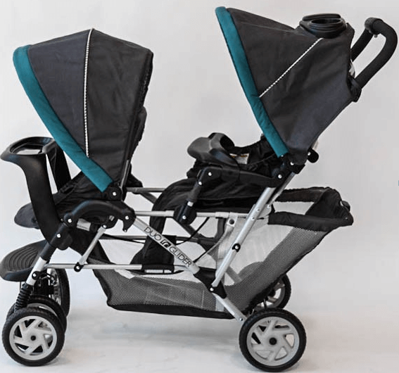 Graco DuoGlider Classic Connect Stroller - big storage space under the stroller seat