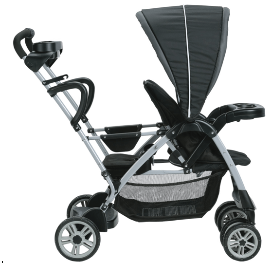 Graco RoomFor2 Stand and Ride Classic Connect Stroller - big storage under with large canopy