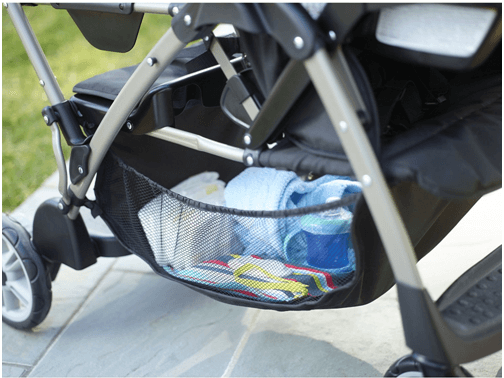 Graco RoomFor2 Stand and Ride Classic Connect Stroller - storage to keep daily baby stuff