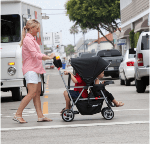 Joovy Caboose Ultralight Stroller Review - best comfortable sit and stand stroller for twins