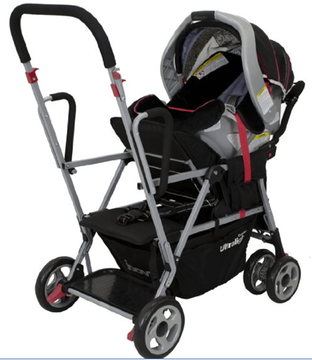 Joovy Caboose Ultralight Stroller Review - best comfortable sit and stand stroller for twins with large canopy
