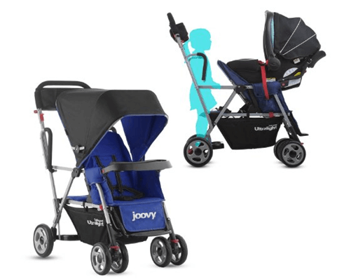 Joovy Caboose Ultralight Stroller Review - best sit and stand stroller for twins