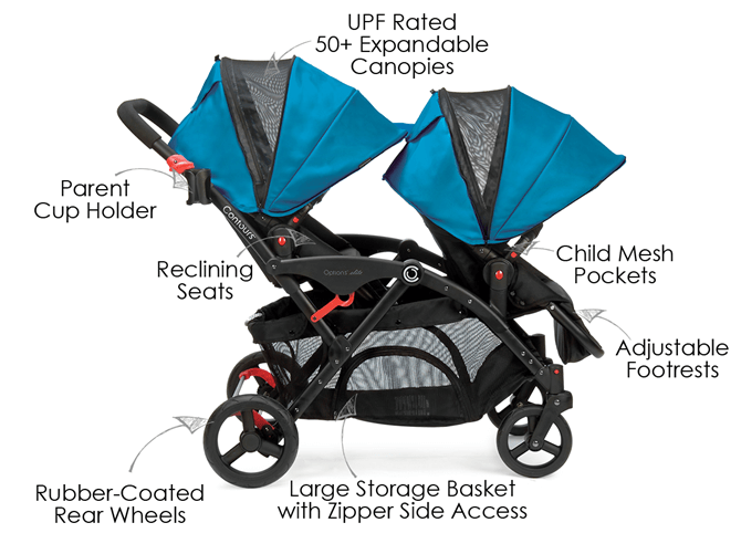 contours-options-elite-2016-stroller - Baby Strollers for Twins With Car Seats