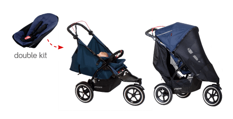 philteds-sport-buggy-stroller-with-double-kit-v5 - Baby Strollers for Twins With Car Seats