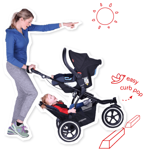 philteds-sport-buggy-stroller-with-double-kit-v5-reviews - Baby Strollers for Twins With Car Seats