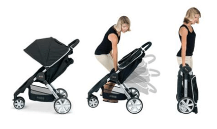Britax B-Ready Stroller Review - easy one hand fold stroller