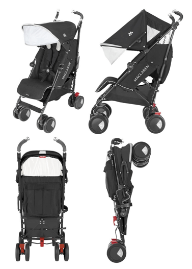 Maclaren Techno XT Stroller Review - One hand fold stroller and big canopy for protection from sun
