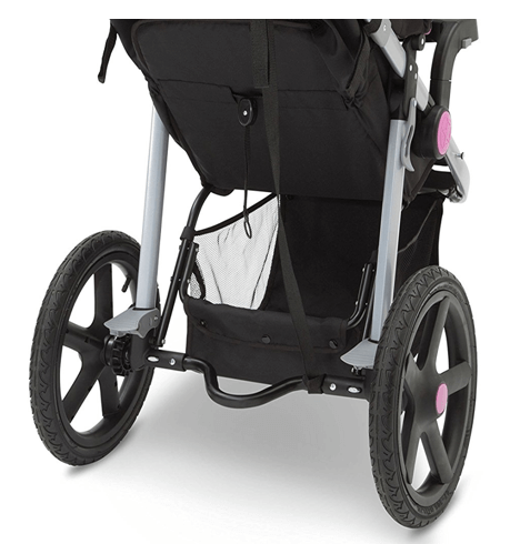 J is for Jeep brand Adventure All-Terrain Jogging Stroller big grocerry basket under the stroller