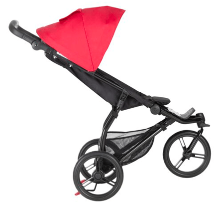 Mountain Buggy MB Mini Compact Travel System Review - travel system with rear break