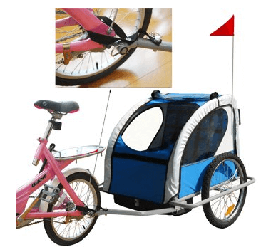 Aosom Elite 2in1 Double Child Bike Trailer - Best Bike Strollers for Babies