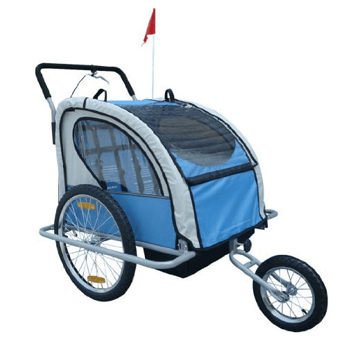 Aosom Elite 2in1 Double Child Bike Trailer - Best Bike Strollers for Baby