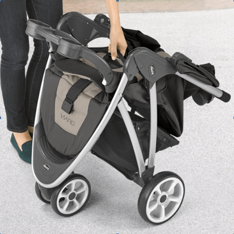 Best Top Standard Size Baby Strollers - Chicco Viaro stroller One Hand Fold Stroller