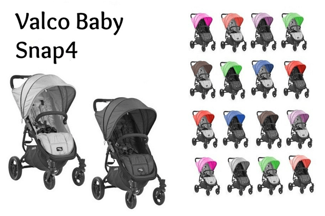 Valco Baby Snap4 Stroller Review in multiple colours