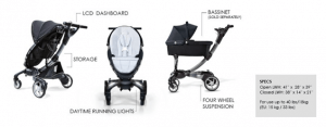 4moms Origami Stroller and Bassinet - Best Strollers with Bassinets for Babies