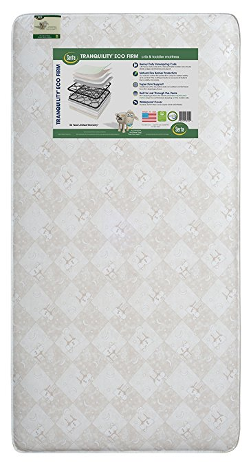 Serta Tranquility Eco Firm Crib and Toddler Mattress