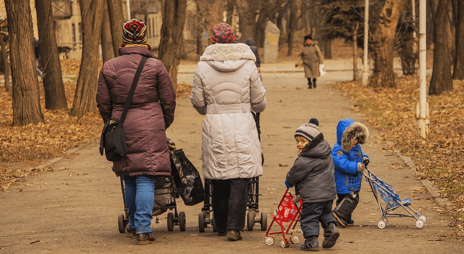 Stroller Accessories-Mothers & Kids having Stroller Ride in a Park